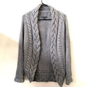 BANANA REPUBLIC Grey Knit Cardigan